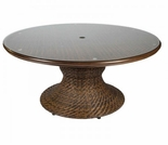 "Whitecraft by Woodard North Shore Wicker Woven 54"" Round Dining Table"