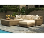 Whitecraft by Woodard Saddleback Chaise Set