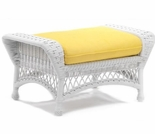 Whitecraft by Woodard Sommerwind Wicker Ottoman