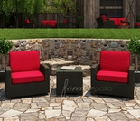 Wicker Forever Patio 3 Pc Barbados Swivel Glider Set