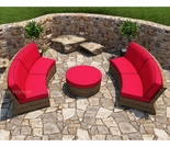 Wicker Forever Patio 3 Pc Cypress Curved Sectional Set