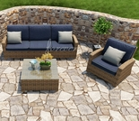 Wicker Forever Patio 3 Pc Cypress Sofa Seating Set