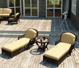 Wicker Forever Patio 3 Pc Leona Chaise Lounge Set