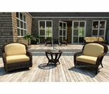 Wicker Forever Patio 3 Pc Leona Chat Seating Set
