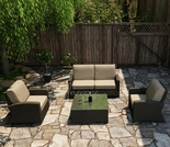 Wicker Forever Patio 4 Pc Barbados Loveseat Seating Set