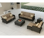 Wicker Forever Patio 6 Pc Barbados Sofa & Loveseat Set