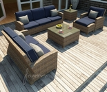 Wicker Forever Patio 6 Pc Cypress Sofa & Loveseat Set