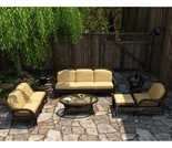 Wicker Forever Patio 6 Pc Leona Deep Seating Loveseat & Sofa Set