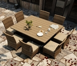 """Wicker Forever Patio 9 Pc Cypress  60"""" Square Dining Set"""