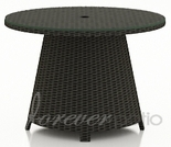 """Wicker Forever Patio Barbados 32"""" Round High Coffee Table"""