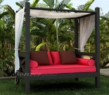 Wicker Forever Patio Barbados Canopy Day Lounger - 35% Off Summer Sale