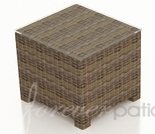 """Wicker Forever Patio Cypress 20"""" Square End Table"""