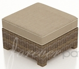 "Wicker Forever Patio Cypress 25"" Square Ottoman"