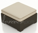 "Wicker Forever Patio Hampton 29"" Square Ottoman"