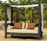 Wicker Forever Patio Hampton Canopy Day Lounger - 35% Off Summer Sale