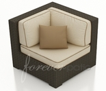 Wicker Forever Patio Hampton Sectional Corner Chair