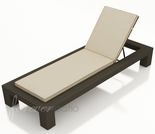 Wicker Forever Patio Hampton Single Adjustable Chaise Lounge