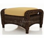 "Wicker Forever Patio Leona 29"" x 22"" Ottoman"