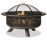 Wood Burning Oil Rubbed Bronze Outdoor Firebowl w/ Swirl Design