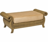 Whitecraft by Woodard South Shore Wicker Ottoman and a Half