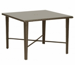 "Woodard Trinidad Wicker 36"" Square Umbrella Dining Table"