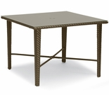 "Whitecraft by Woodard Trinidad Wicker 36"" Square Umbrella Dining Table"