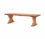 Wooden 4 Ft Backless Bench-Garden Bench