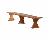 Wooden 6 Ft Backless Bench-Garden Bench Kit
