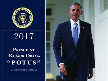 "New! ""POTUS"" Barack Obama 2017 Commemorative Calendar"