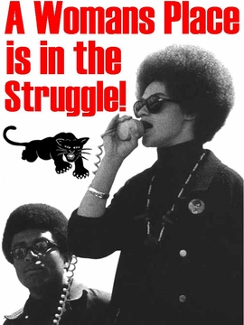 A Woman's Place Is In The Struggle Black Panther T-Shirt