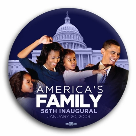 """America's First Family 56th Inaugural Button - 3"""""""