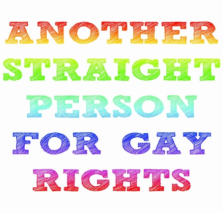Another Straight Person For Gay Rights T-Shirt