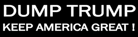 DUMP TRUMP BUMPER STICKERS