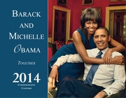 New! Barack and Michelle Obama 2014 Wall Calender - 28 Pages
