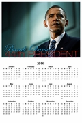 Barack Obama 44th President 2014 Wall Calendar