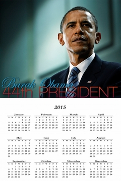 Barack Obama 44th President 2015 Wall Calendar