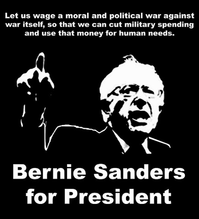 """Bernie Sanders """"Cut Military Spending And Use That Money For Human Needs"""" T-Shirt"""