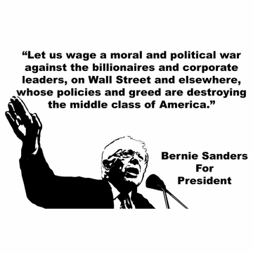 """Grassroots Holiday Weekend Special:Bernie Sanders """"War Against The Billionaires"""" T-Shirt Only $10!"""