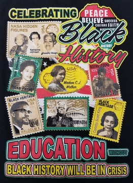 Black History with the REAL Hidden Figures 2-SIDED t-shirt
