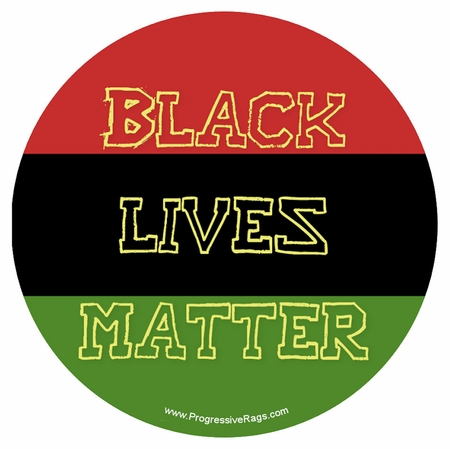 Black Lives Matter Red, Black and Green Button