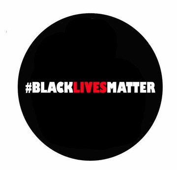 "#BLACKLIVESMATTER BUTTON in three sizes- 1.25"" 2"" 3"" - Say No To Racism - Show Your Solidarity!"
