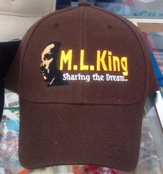 Brown ML King Baseball Cap