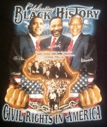 New! Celebrating Black History: Civil Rights In America T-Shirt - Two Sided!