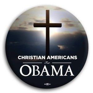 """Christian Americans for Obama Button 3"""""""