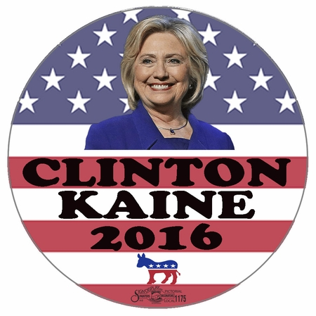 Clinton Kaine 2016 Button