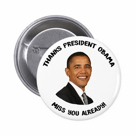 Commemorative Thanks President Obama Button