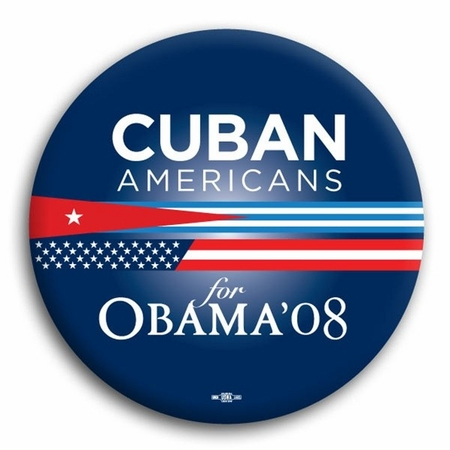 Cuban Americans for Obama Button