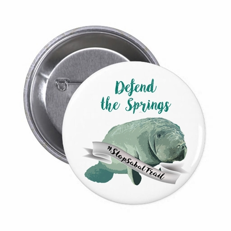 Defend the Springs Manatee Guardian Button