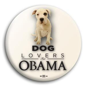 Dog Lovers for Obama Button 3""