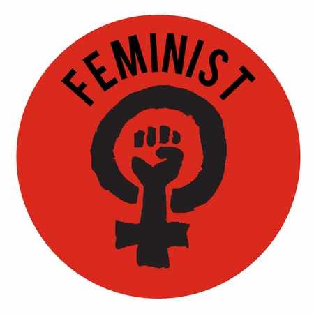 Feminist Symbol Button<br>Pick Your Color!